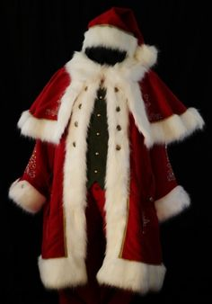 Santa Claus Johnathan's amazing suit. just the right amount of embrodery.