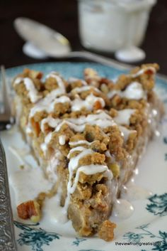 Pear Gingerbread Crumb Cake.~T~A wonderful combination. A great fall breakfast treat or dessert.