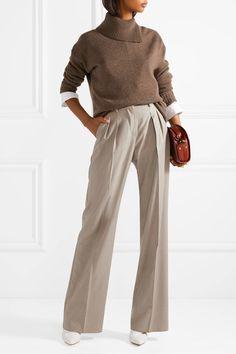 Max Mara | Pleated wool-twill wide-leg pants | NET-A-PORTER.COM