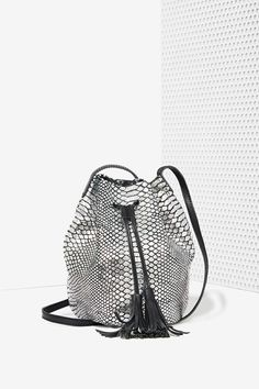 Monserat de Lucca Serpiente Leather Bucket Bag Shared by Career Path Design. Lucca, Fashion Accessories, Accessories Shop, Clutch Wallet, Bucket Bag, Leather Bag, Purses And Bags, Shopping Bag, Crossbody Bag