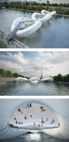 Cool bridge across the river Seine this looks so cool!! I would love to cross that with the boys!!