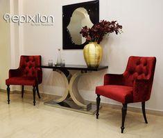 Μοντέρνα κονσόλα Chanel δια χειρός Epixilon by Victor Taliadouros! Γεωργίου Παπανδρέου 74,Καλαμαριά - Τηλ.:2310410835 epixilon.com #classic #furniture #luxury #homedesign #epixilon #VictorTaliadouros Wingback Chair, Accent Chairs, Furniture, Home Decor, Upholstered Chairs, Decoration Home, Room Decor, Wing Chairs, Wingback Chairs