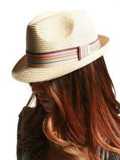 Stripe Band Thin Straw Fedora - Hats & Hair - ACCESSORIES A'GACI - StyleSays