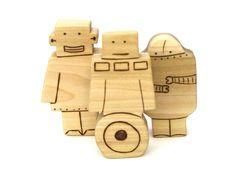 Robot Trio - Wooden Toy