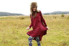 Livvy Swing Dress Maroon