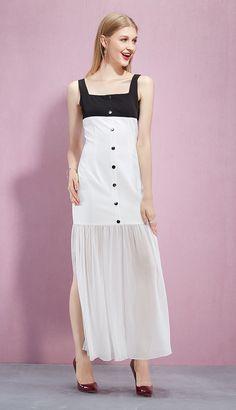 61cc24ec4c2 YIGELILA 2015 Hot Sale Womens Maxi Long White And Black Spaghetti Strap  Bodycon Summer Dresses Online