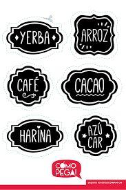 Resultado de imagen para etiquetas para frascos de cocina imprimibles