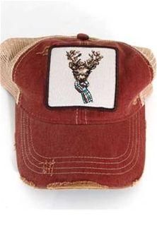 Judith March Deer in Scarf Trucker Hat 930H-108