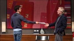 Hamish Linklater and Alan Rickman