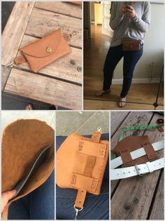 DIY heuptas van leer! // hip bag/ belt bag