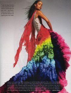 rainbow dress - flair