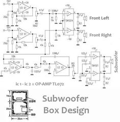 Power Audio amplifier 2. 1 (2 Front + 1 Subwoofer)
