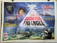 THE BERMUDA TRIANGLE -JOHN HUSTON / ANDRES GARCIA- ORIGINAL UK QUAD MOVIE POSTER