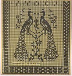 Рукоделие: Проекты с павлинами для вышивки павлиньих / Вышивка крестиком