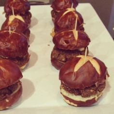 Backyard Veggie Burger Sliders by the little foxes!  The secret ingredient in the Backyard Sauce- is our Nayonaise!