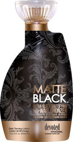 Devoted Creations Matte Black No-Wait Bronzer Tanning Lotion