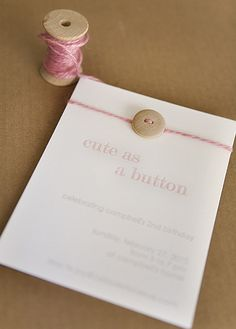 cute as a button Invite