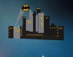 City Skyline Superheroe Wall Mural City Skyline by StunningWalls