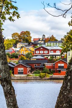 "Porvoo, Finland | ""H u s Ä r R ö d a ❣ The ultimate Scandinavian houses: wooden and red."""