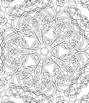 Adult Coloring - ASIAN DESIGNS COLORING PAGES