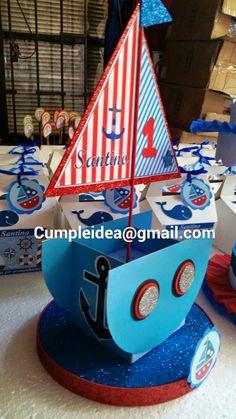 Cumplea os marinero centro de mesa buscar con google - Decoracion cumpleanos infantiles manualidades ...