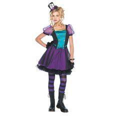 Mischievous Mad Hatter Jr. Girls Costume - OrientalTrading.com