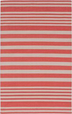 Madeline Weinrib - coral cabana stripe