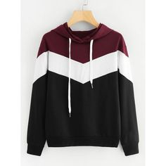 Cut And Sew Drawstring Hoodie - Fashion Maxx Sweater Outfits, Sweater Hoodie, Hoody, Sweater Fashion, Cool Hoodies, Casual Fall, Look Cool, Shirts For Girls, Girls Hoodies