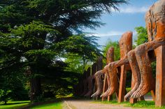 Yorkshire Sculpture Park   Magdalena Abakanowicz   Ten Seated Figures. By Thomas Tolkien by Thomas Tolkien, via Flickr