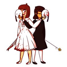 Masktale! Chara and Frisk HOW MANY UNDERTALE AU's CAN A FANDOM CREATE!!!!!!!(this is NOT a dare)