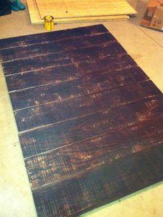 DIY wood floor for photo studio