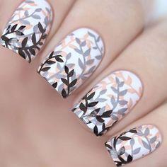 Nail Stamping nail at stamping Nail Stamping Designs, Stamping Nail Art, Nail Art Designs, Fall Nail Art, Nail Art Diy, Acrylic Nail Art, Cute Nails, Pretty Nails, Nails Factory