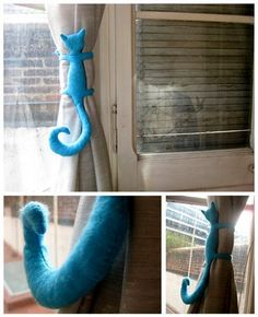 curtain tie-back! Could alter a stuffed animal for a kid's room. @Jamie Muchler