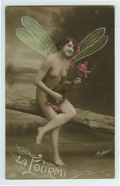 1910s Sexy French NUDE FAIRY w/ Mandolin Super Cute photo postcard | Collectibles, Photographic Images, Risqué | eBay!