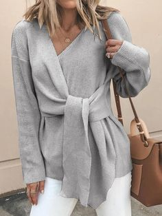 Women's Outerwear Jackets, Fashion Cowl Neck Outerwear & Sweaters - NewChic Loose Sweater, Sweater Coats, Sweater Outfits, Long Sleeve Sweater, Sweater Cardigan, Sweaters, Cardigans For Women, Pulls, Types Of Sleeves