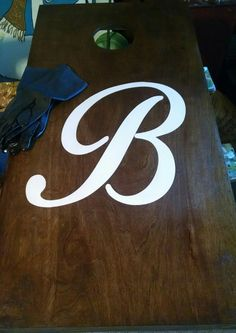 Stained Custom And Personalized Cornhole Boards All Paint No - Custom vinyl decals for wood
