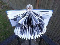 Handmade Blue Angel Book Art | DuckCoveCreations - Paper/Books on ArtFire Book Angel, Paper Book, Book Art, Angels, Bird, Boutique, Books, Christmas, Handmade