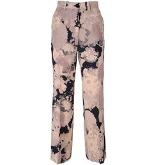 Dries Van Noten Powell Printed Crepe Trousers (12.210 ARS) ❤ liked on Polyvore featuring pants, multicolor, flower print pants, floral printed pants, colorful pants, brown trousers and dries van noten