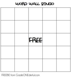 An easy and low prep way to play bingo with your classroom word wall.