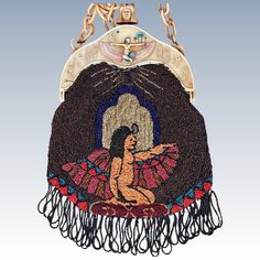 Art Deco Egyptian Revival Goddess #Isis - Celluloid Beaded Purse ~ETS Vintage Purses, Vintage Bags, Vintage Handbags, Vintage Outfits, Vintage Fashion, Vintage Clothing, Egyptian Isis, Egyptian Art, Beaded Purses
