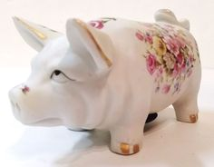 Old Vintage Collectible Piggy Coin Still Porcelain Bank Pig Made In Japan #ARDCO http://www.ebay.com/itm/-/321800535051?