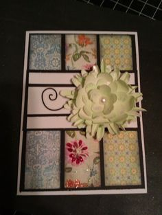 Handmade card and flower