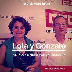 Juicio a Lola y Gonzalo por ejercer derecho de Huelga