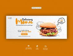 Social Design, Social Media Page Design, Facebook Cover Design, Facebook Cover Template, Banner Design Inspiration, Web Banner Design, Food Banner, Banner Ideas, Banner Sample