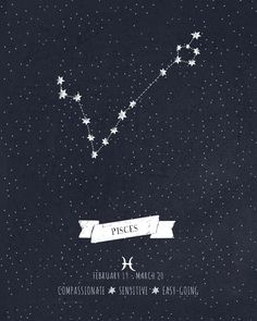Pisces Constellation Print Art Print