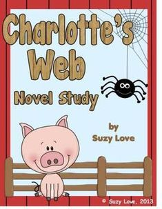 Great Charlotte's Web Novel Study Packet for common core!