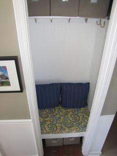 cheriesparetime: Coat Closet to Mini Mudroom