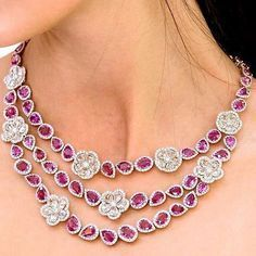 Avakian Haute Joaillerie Necklace- Diamonds and Sapphires