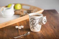 Una din cele mai tari idei de Cadouri pentru Botez - Cana Catelus pentru toti copiii si nu numai carora le plac catelusii  #incrediblepunctro #cadou #cadouri #cana #catelus #caine #cadouribotez #cafea The Incredibles, Tableware, Dinnerware, Tablewares, Dishes, Place Settings