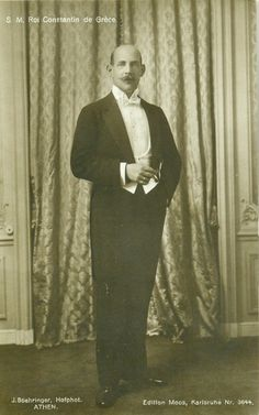 King Constiantine I of Greece.Late to Early Greek Royalty, Greek Royal Family, Royal Photography, Victorian Paintings, Royal Queen, Historian, King, Royals, 1920s